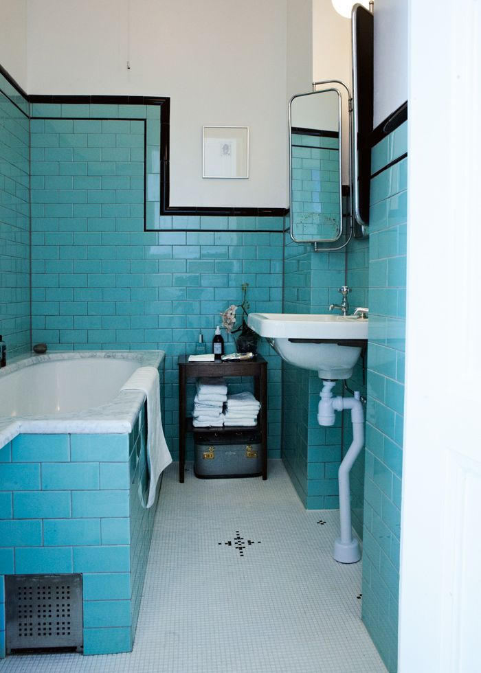 Blue vintage bathroom                                                                                                                                                                                 More