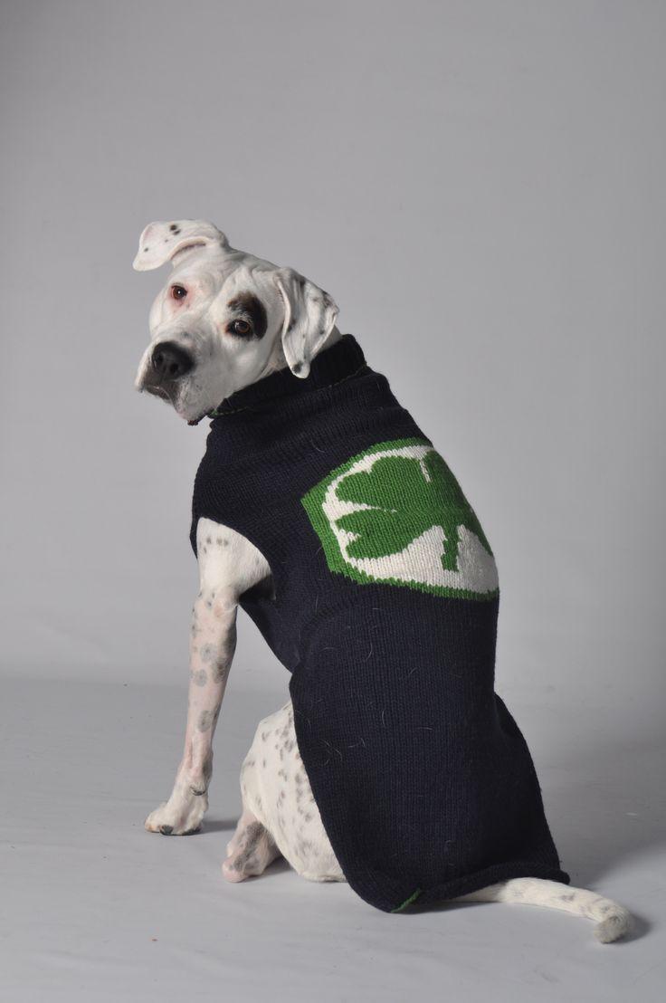 Handmade - Novelty Lucky Clover Dog Sweater