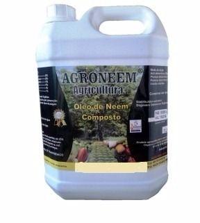 óleo neem composto para proteção de hortaliças galão nim 5l