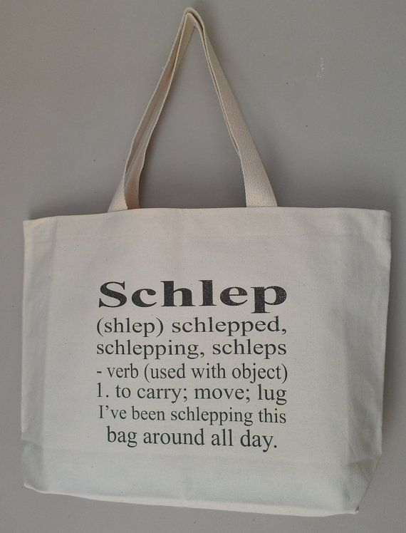 Schlep Definition Chanukah Hanukkah tote bag gift bag yiddish