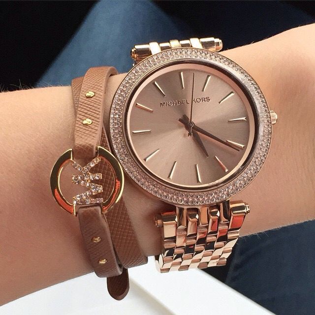 I love the colour! MK watch and bracelet -Watches and bracelets