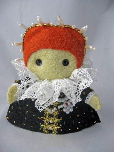 The Tudor Project: Sewing People, Sewing Projects, Felt Dolls, Felt Crafts, Deridolls Deviantart Com, Dolls Felt, Felt Fun, Crafts Dolls, Elizabeth I