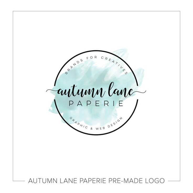 This listing is for a customizable black badge with teal watercolor logo. Put your company's name on it today!