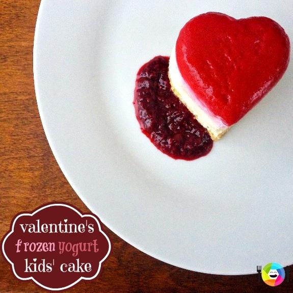 Valentine's Frozen Yogurt Cake Recipe -- can't wait to make this for my kiddos!!