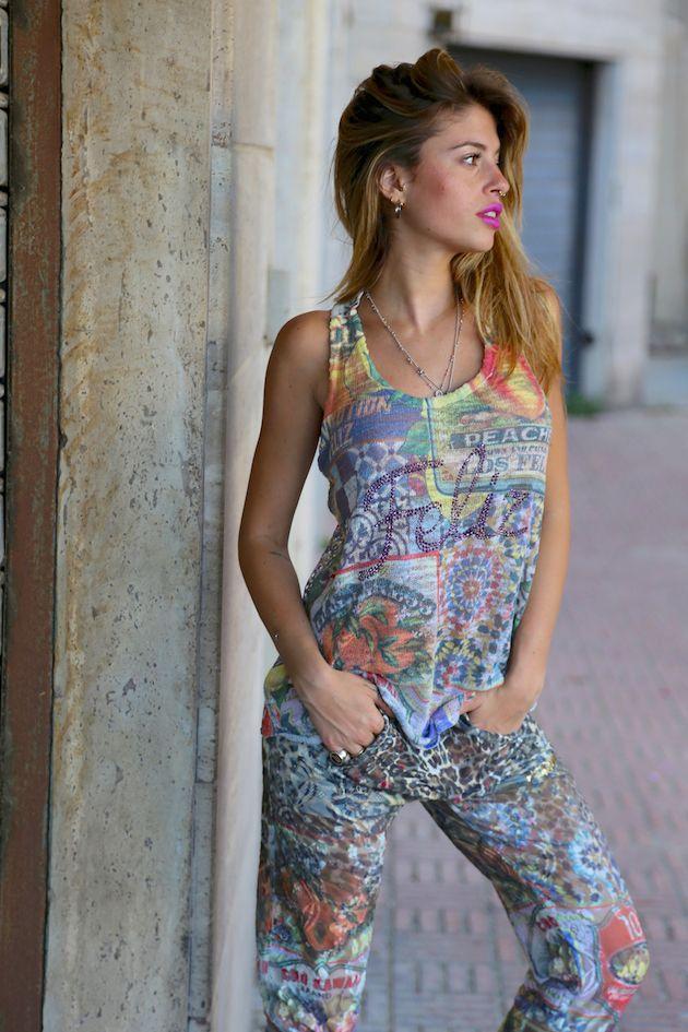 Chiara Nasti in total look Happiness Cuba!