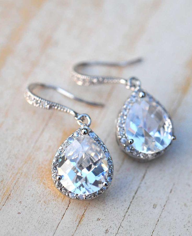 Bridal earrings - love
