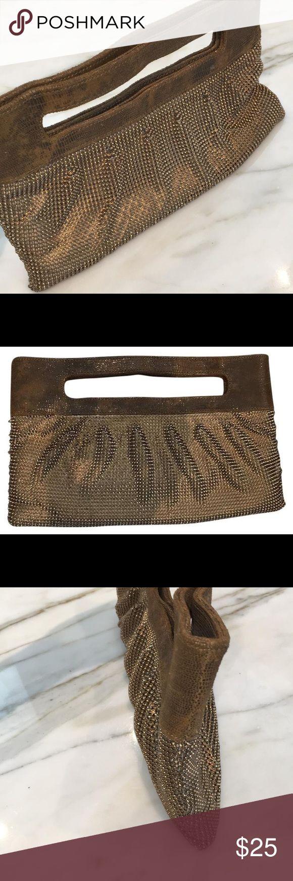 Metallic Clutch Gold metallic clutch BCBGMaxAzria Bags Clutches & Wristlets