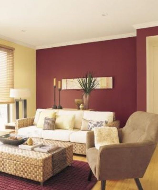 Two Colour Combination For Living Room | Room color ...