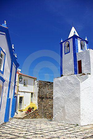 Street of Alegrete village, Portalegre, Portugal.