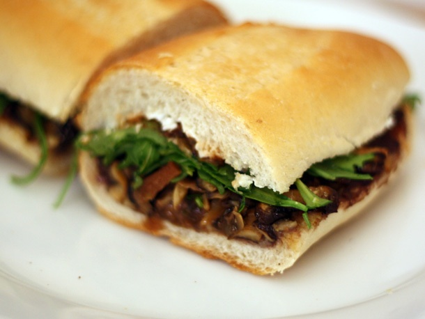 Roasted Mushroom Torta with Goat Cheese and Black Beans # ...