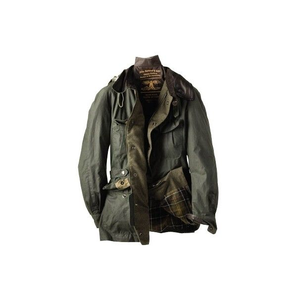 Barbour Tokihito Horse Riding Jacket ($460) ❤ liked on Polyvore featuring men's fashion, men's clothing, men's outerwear, men's jackets, jackets, outerwear, tops, men, mens hooded leather jacket and mens green military jacket