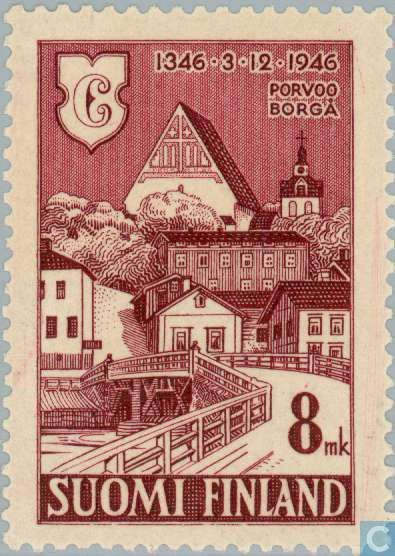 Stamps - Finland - 600 years of Porvoo 1946