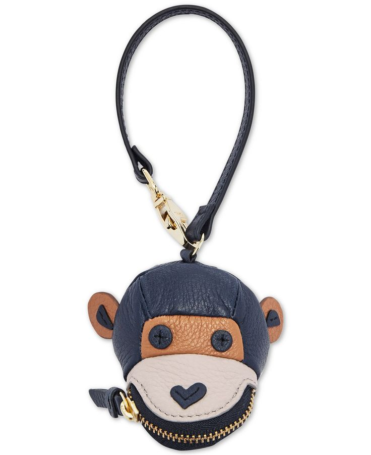 A fun and fabulous way to show off your playful side. Fossil's monkey bag charm is too cute hanging from your purse handle. Key fob attachment Zippered monkey c