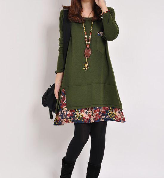 Dark green cotton sweater knitwear large di originalstyleshop, $59.00