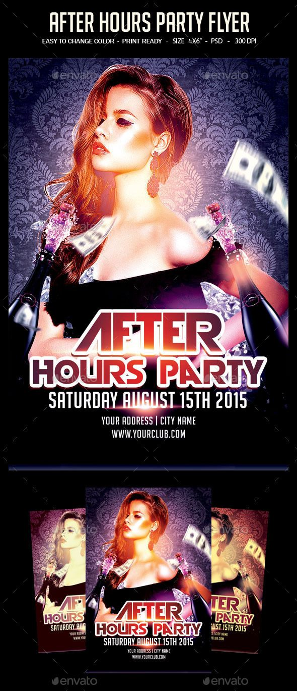 After Hours Party Flyer