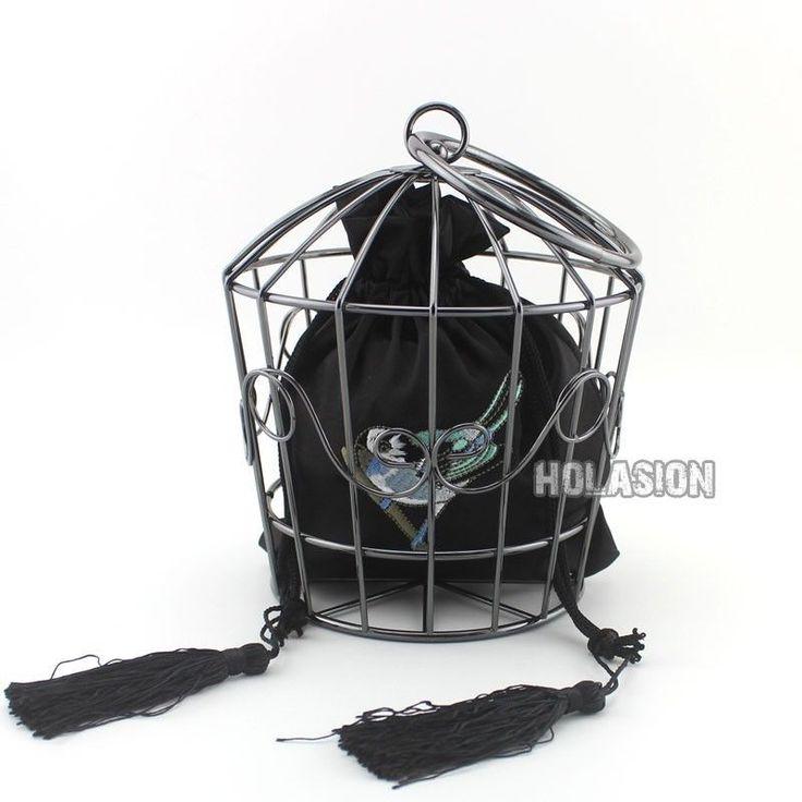 Wholesale Purse Party Bag Women Ring Handbag Metallic Bird Cage Clutch Popular