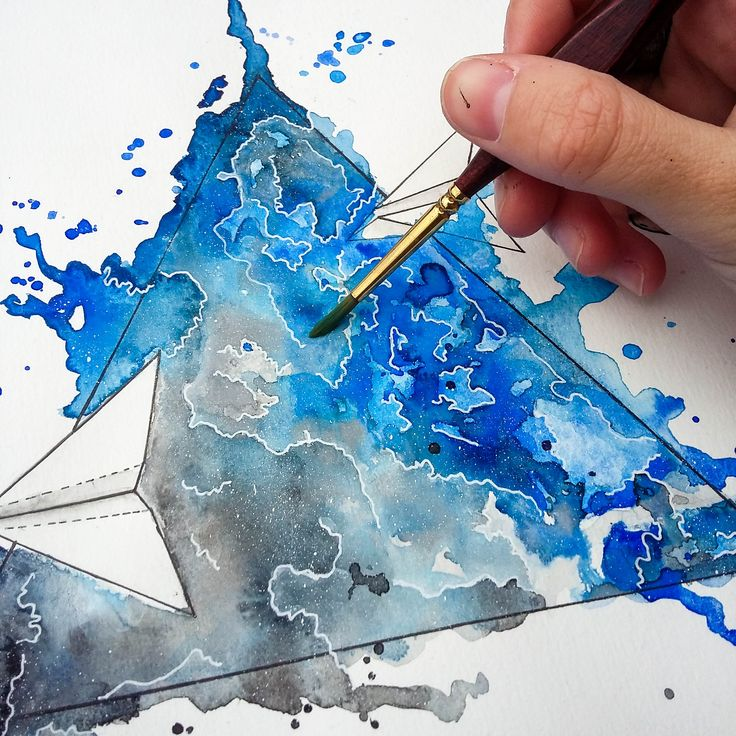 Watercolor Airplane. @anacbeier - Facebook/anacristibeierilustrações.com