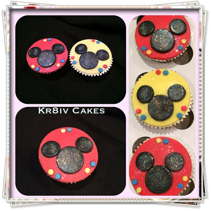 Vanilla Mickey Mouse birthday cupcakes for 1 year old
