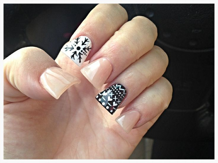 Christmas Duckfeet Nails