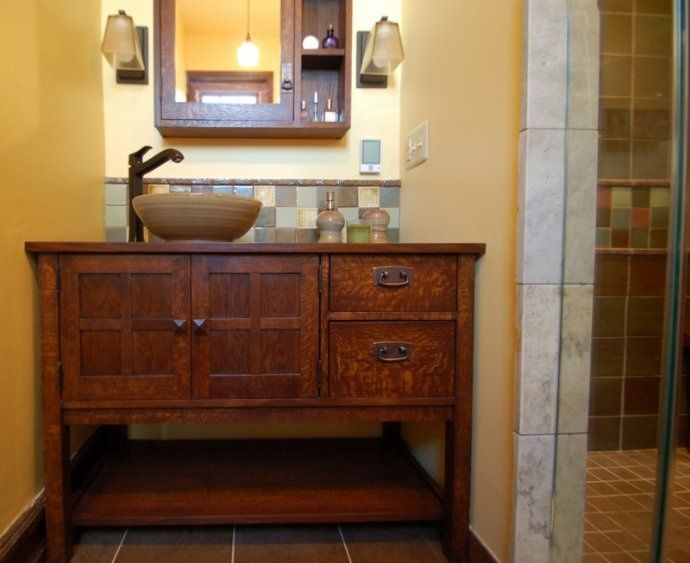 7 best craftsman style bathroom vanities images on pinterest bath vanities bath accessories for Craftsman style bathroom vanities