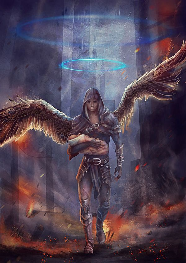 saints vs fallen by vasylina - Fantasy Digital Art by Vasylina Holodilina  <3 <3