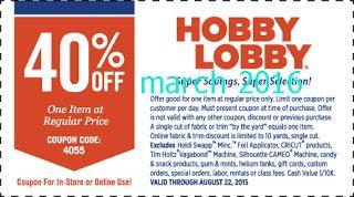 Free Printable Coupons: Hobby Lobby Coupon