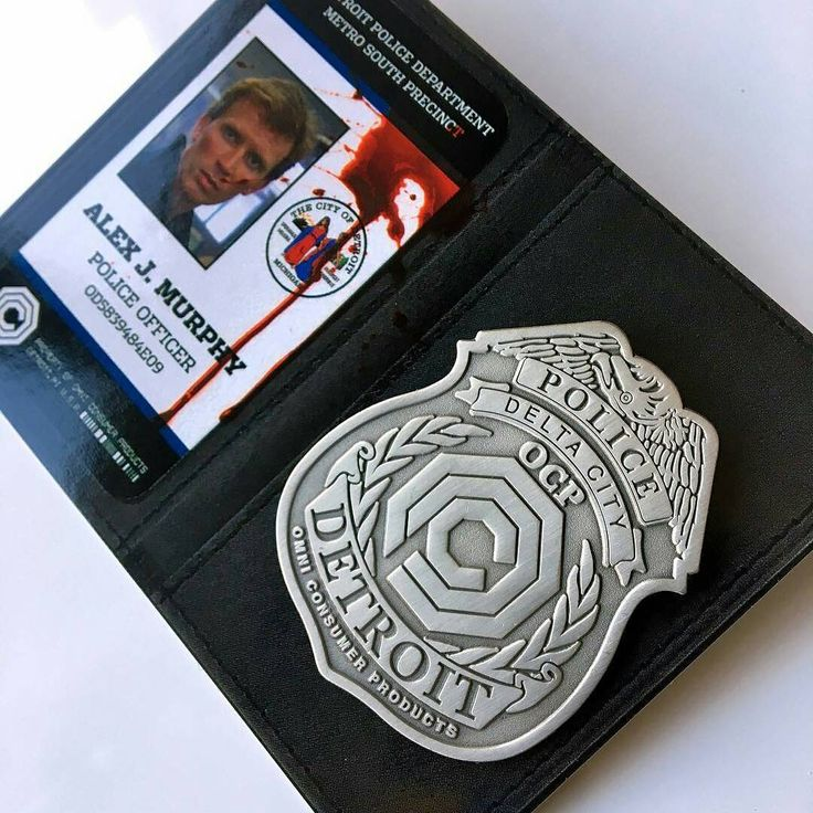 "GO GET SOME!  #Repost @zombiebacons ・・・ I have the most minuscule amount of these OCP badges that I'll be selling separate from the #Robocop posters. This jumbo 2"" die-cast pin comes on a custom Murphy police wallet backer card. For news on the drop sign up for my mailing list at anthonypetrie.com. Also I think there's only like 10 posters left over at skuzzles.com, so if you slept on it, there's still some available. #Skuzzles"