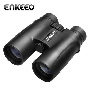 Enkeeo 10X42 Compact Binocular Portable Telescope Bird Wildlife Viewing Camping Sports Events Concerts Hunting Surveillance