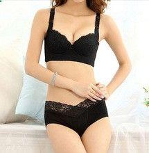 China Tamaño Moda Mujeres Push Up Encaje Plus Size BCDEF Copa Bra Set Sexy Ambrielle grande del tamaño del sujetador de la ropa interior y bragas (China (continental))