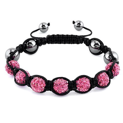 SHAMBALLA BRACELET with 9 Disco Pearls 0pOpiYHGFl