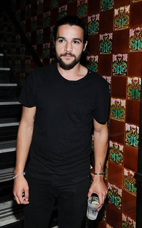 Christopher Abbott. Simple, black on black.