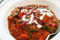 Harissa Spiced Vegetable & Lentil Casserole