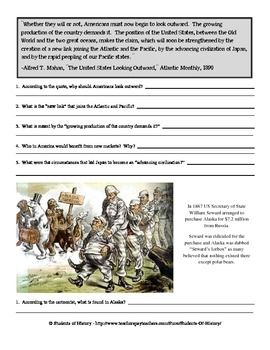 Wonderful 5 page packet of primary source CCSS aligned activities on American Imperialism! Covers the Spanish American War, and more!