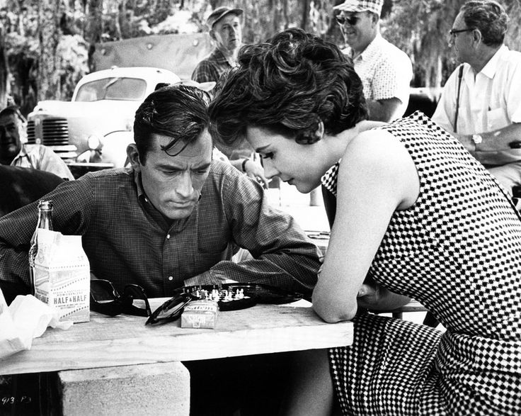 Polly Bergen and Gregory Peck