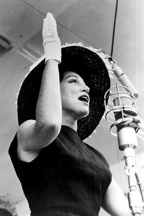 Anita O'Day. Newport Jazz Festival, 1958   [photographer unknown]