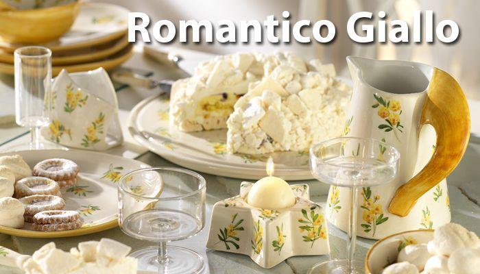 Romantico Giallo by Arte dal Fiume. Italian pottery - Arte dal Fiume - Handgemaakt servies