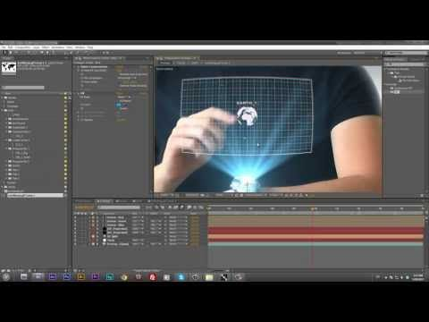 Hologram Screen Effect - After Effects Tutorial - YouTube