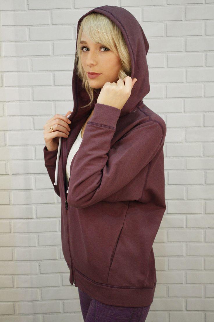 Bamboo Fleece jacket, comfy, hoodie - Delia Jacket