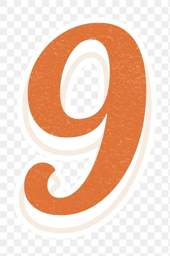 Number Nine 9 Png Bold Font Lettering Free Image By Rawpixel Com Jingpixar Bold Fonts Free Illustrations Lettering Fonts