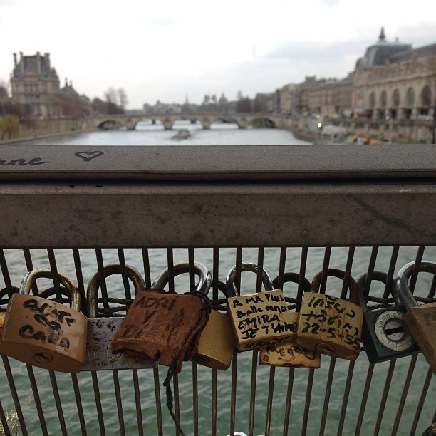 Locks and a view. In #Paris #France