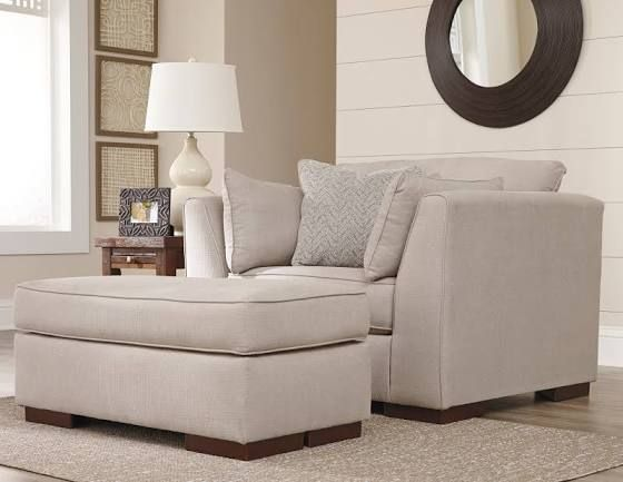 Sectional Sofa chair and a half with ottoman