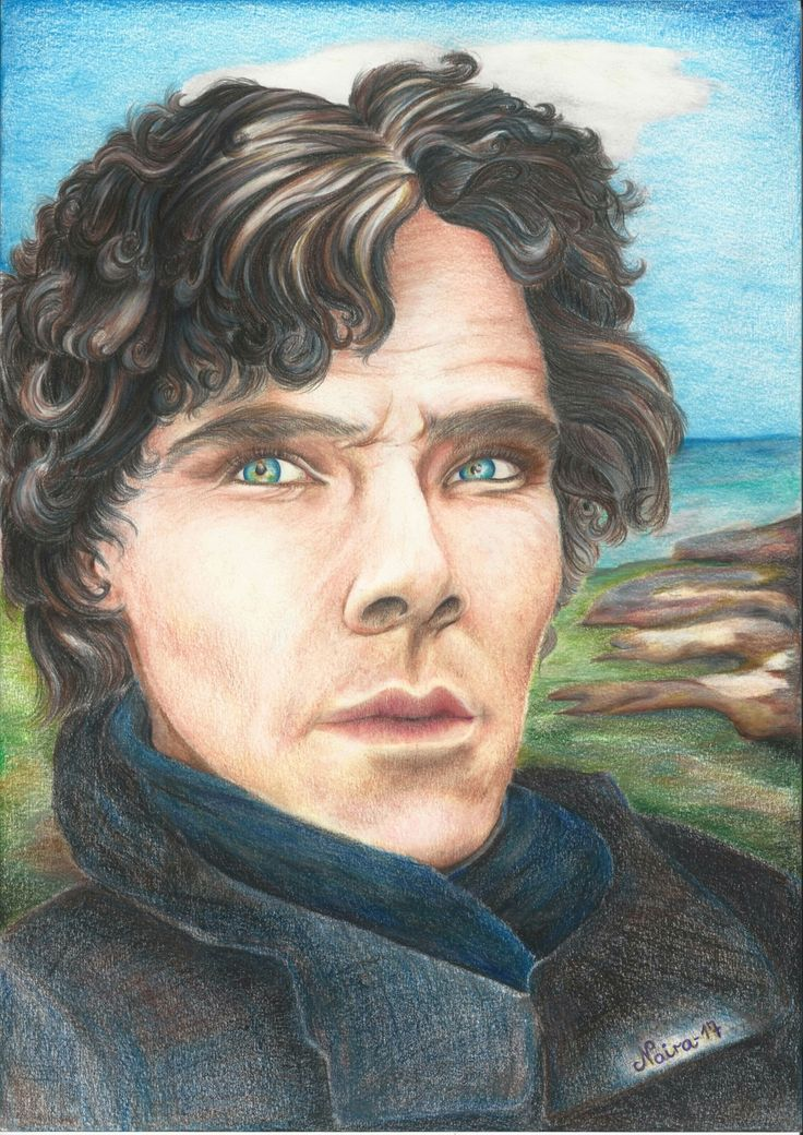 Benedict Cumberbatch aka Sherlock Holmes - Drawing by Naira 05.02.17