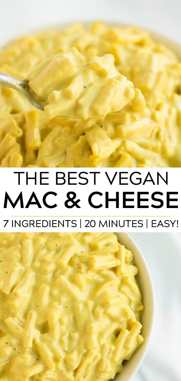 The Best Vegan Mac Cheese That Is Super Easy To Make Too 7 Ingredients And 20 Minutes Is All You Vegan Mac And Cheese Vegan Comfort Food Vegan Pasta Dish