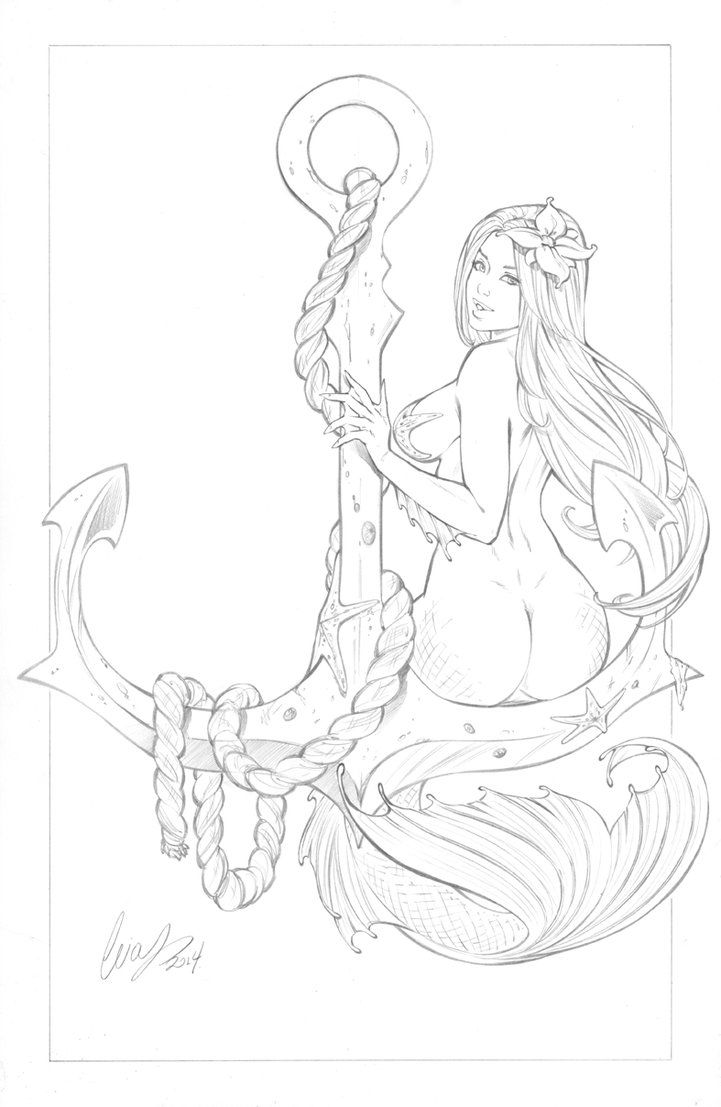 One more sexy mermaid in my collection. Lines: pencils mga1wars@aol.com Colors: