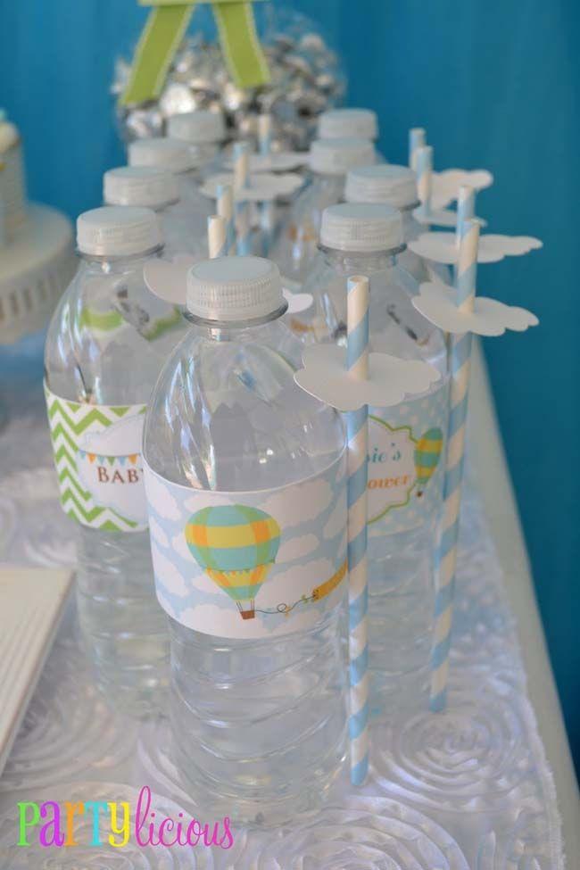 Hot Air Balloon Baby Shower - cute drink detail - www.spaceshipsandlaserbeams.com