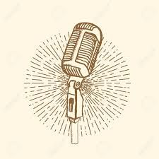 Image result for vintage microphone drawing