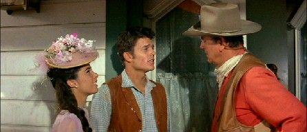Stefanie Powers, Patrick Wayne and John Wayne