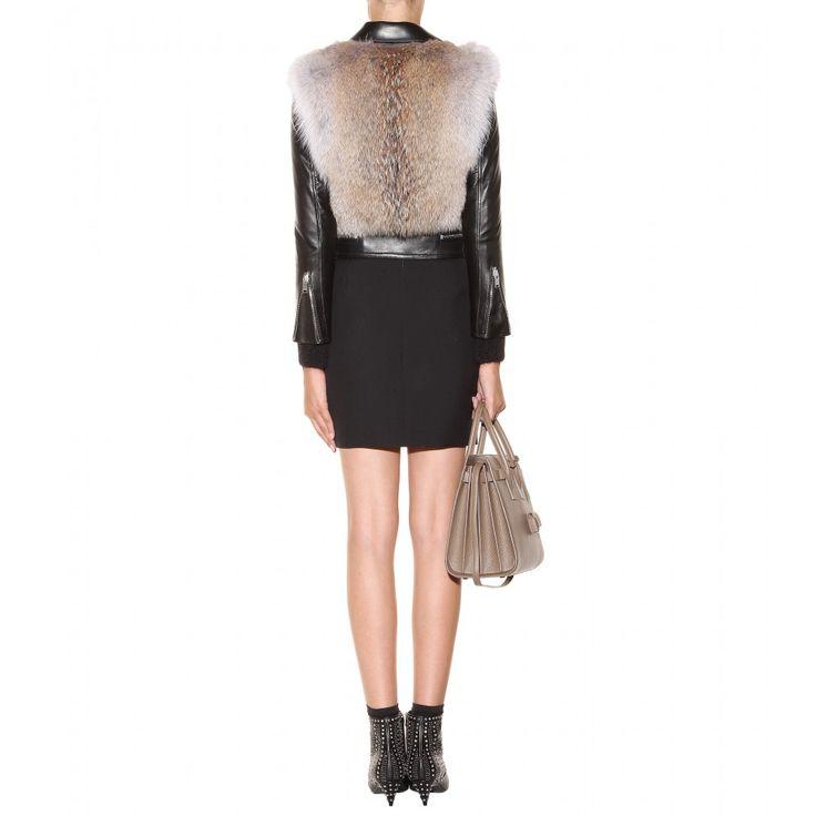 mytheresa.com - Coyote kürk ve deri ceket - Ceket - Kürk - Giyim - Bayan / Tasarımcı giyim, ayakkabı, çanta Lüks Moda