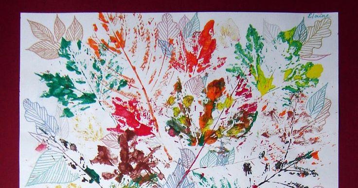 Door Elaine, groep 7  Benodigdheden verschillende herfstblaadjes tekenpapier op A4 formaat plakkaatverf en kwasten fineliners en gelpennen...
