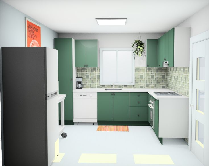 this is my initial design for a new kitchen using kaboodle 3d planner i love the green tired on kaboodle kitchen layout id=63817